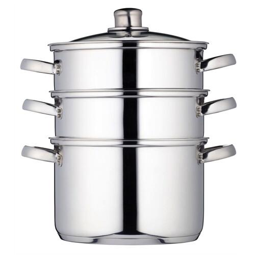 Kitchencraft 3-laags Stoompan 22cm