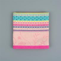 Flora Castle Tea Towel Rosie Pink