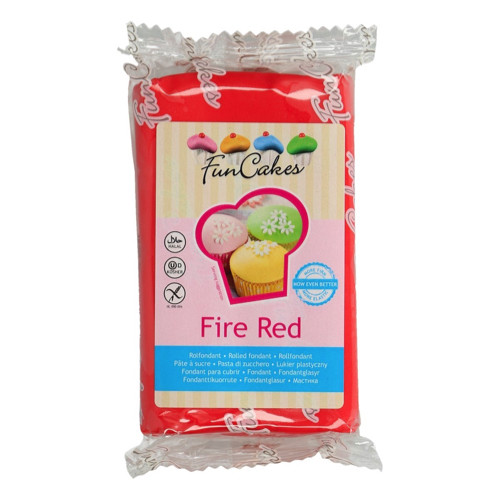 FunCakes Rolfondant Fire Red 250g
