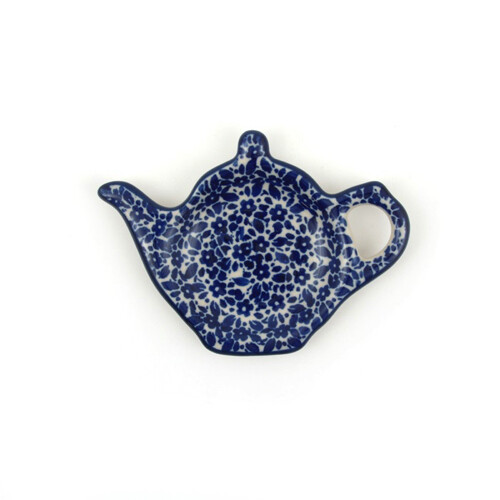 Teabag Dish Teapot Indigo