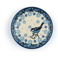 Teabag Dish Round Fleur Délicate Bird