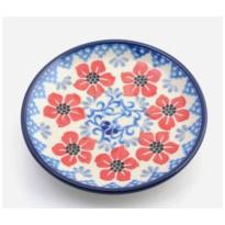 Teabag Dish Round Red Violets