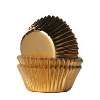 House-of-Marie Mini-Cupcakevormpjes Folie Goud-pk/36