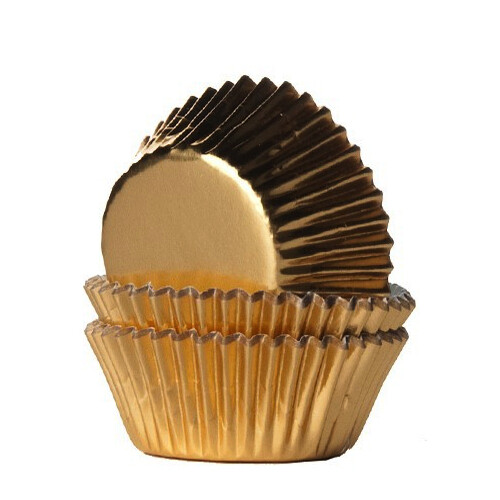 House-of-Marie Mini-Cupcakevormpjes Folie Goud-pk/36