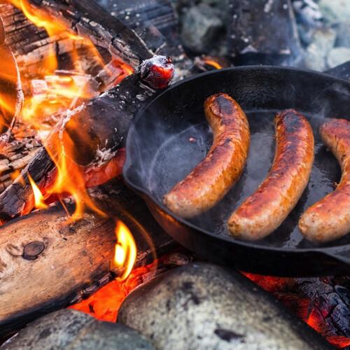 Inbranden Gietijzeren Producten
