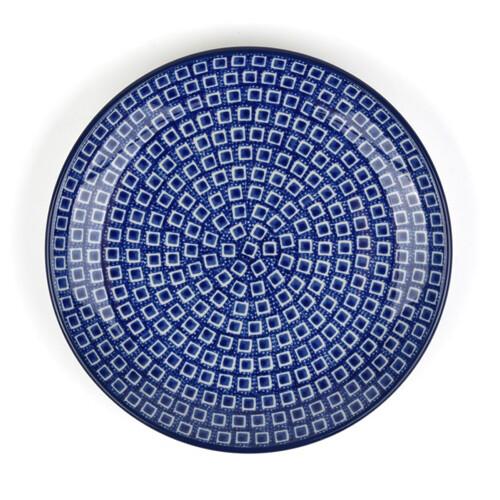 Bunzlau Castle Lunchbord Blue-Diamond-23.5cm