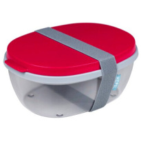 Saladbox Ellipse Nordic Red