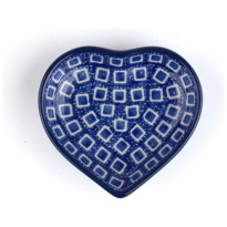 Teabag Dish Heart Blue Diamond