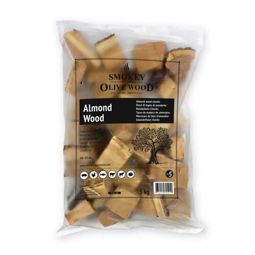 Smokey Olive Wood Amandel-Chunks-1.5kg
