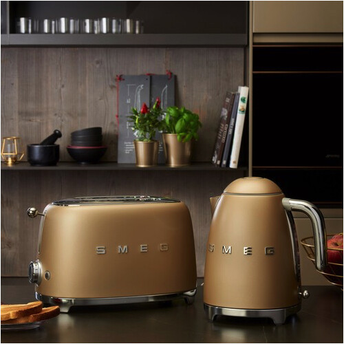 Smeg Broodrooster 2x2 Champagne-Mat
