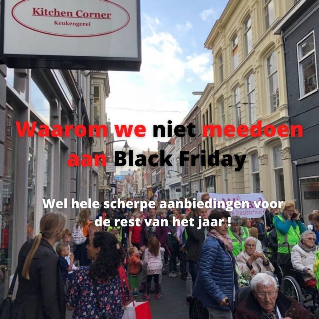 Waarom we niet meedoen aan Black Friday
