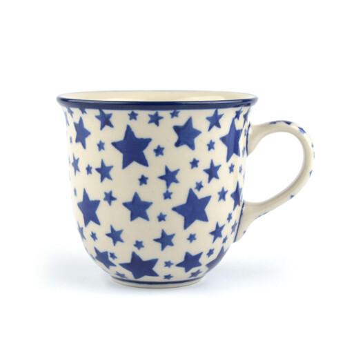 Bunzlau Castle Tulp mok-White-Stars-200ml